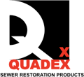 Quadex Sewer Restoration Products Logo